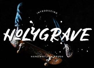 Holygrave Brush Font