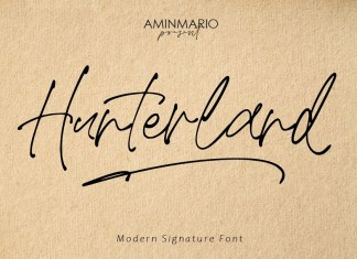 Hunterland Handwritten Font