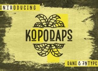 Kopodaps Display Font
