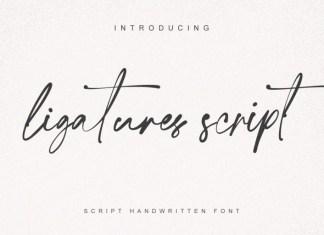 Ligatures Script Font
