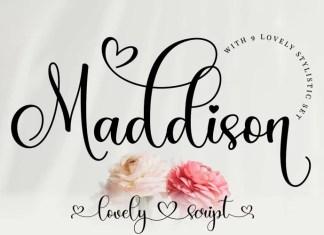 Maddison Script Font