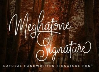 Meghatone Signature Script Font