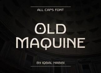 Old Maquine Display Font