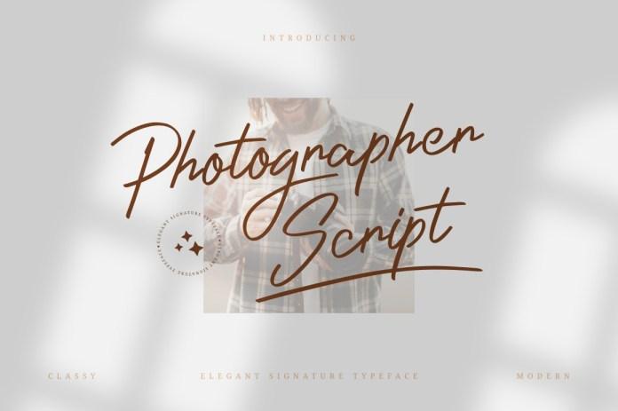 Photographer Handwritten Font