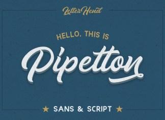 Pipetton Script Font