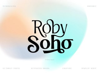 Roby Soho Sans Serif Font