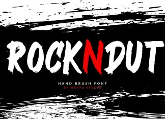 Rockndut Brush Font