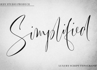 Simplified Script Font
