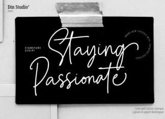 Staying Passionate Handwritten Font