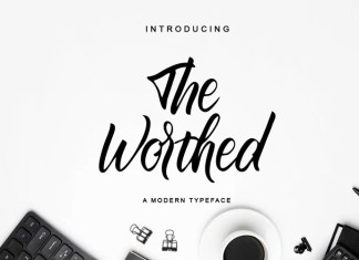 The Worthed Script Font