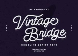 Vintage Bridge Script Font