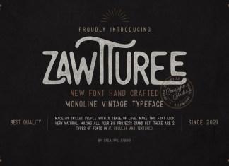 Zawtturee Display Font