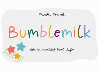 Bumblemilk Handwritten Font