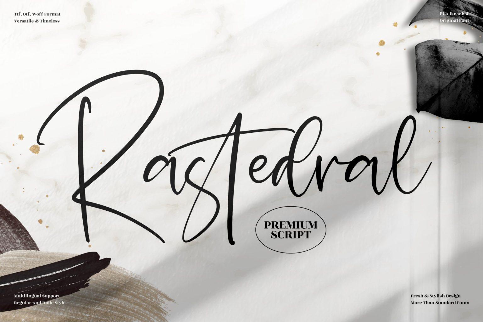 Rastedral Script Font