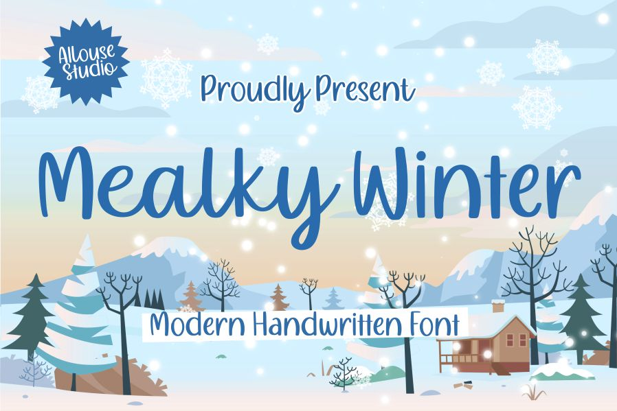 Mealky Winter Script Font