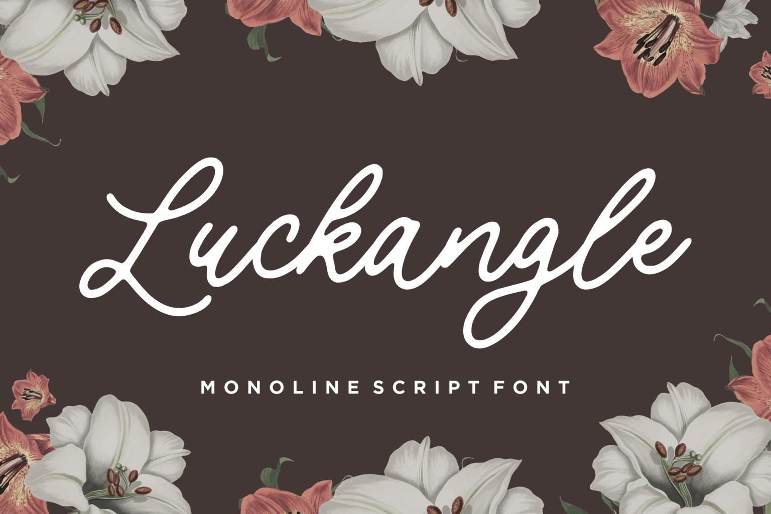Luckangle Script Font