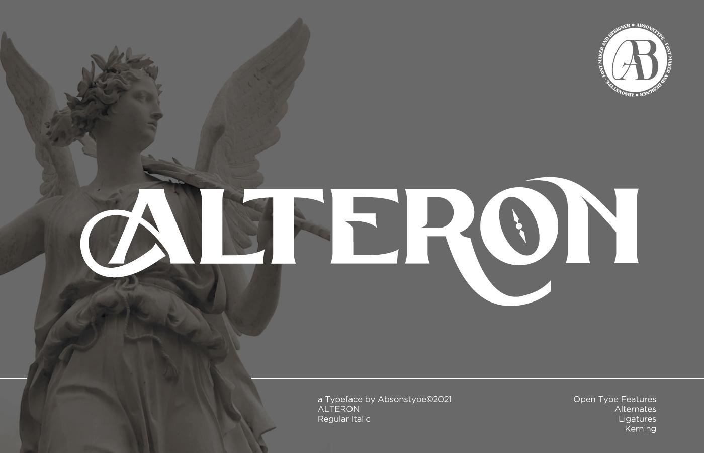 ALTERON Display Font