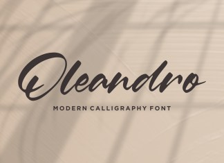 Oleandro Calligraphy Font