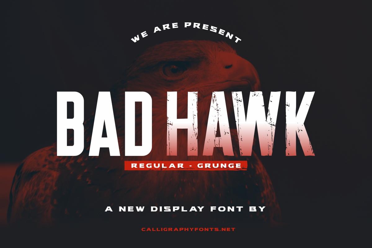 Bad Hawk Sans Serif Font