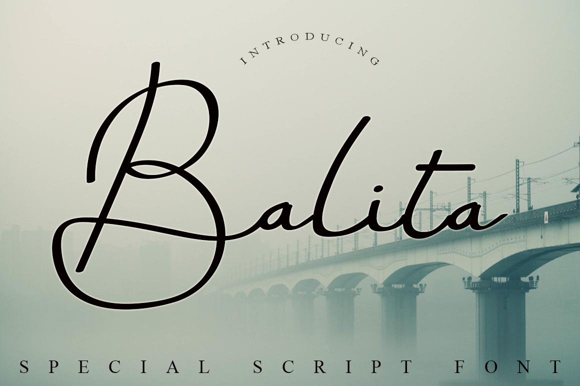Balita Script Font