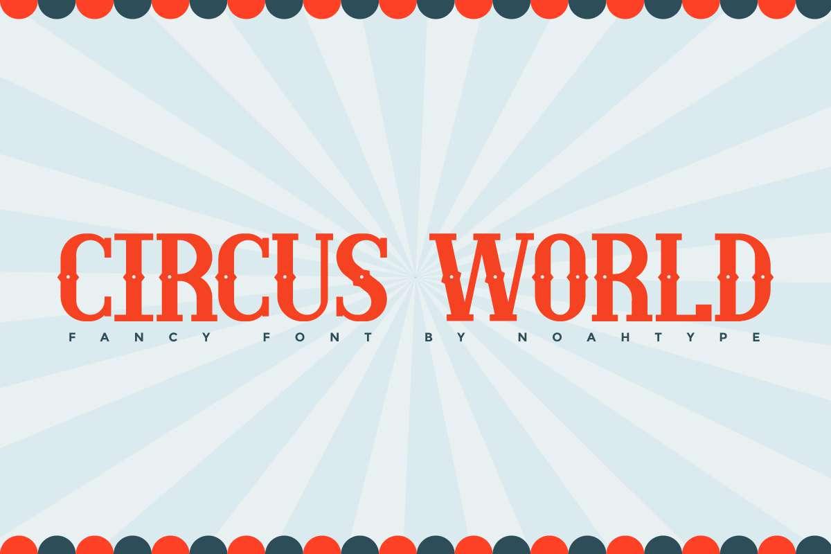 Circus World Display Font