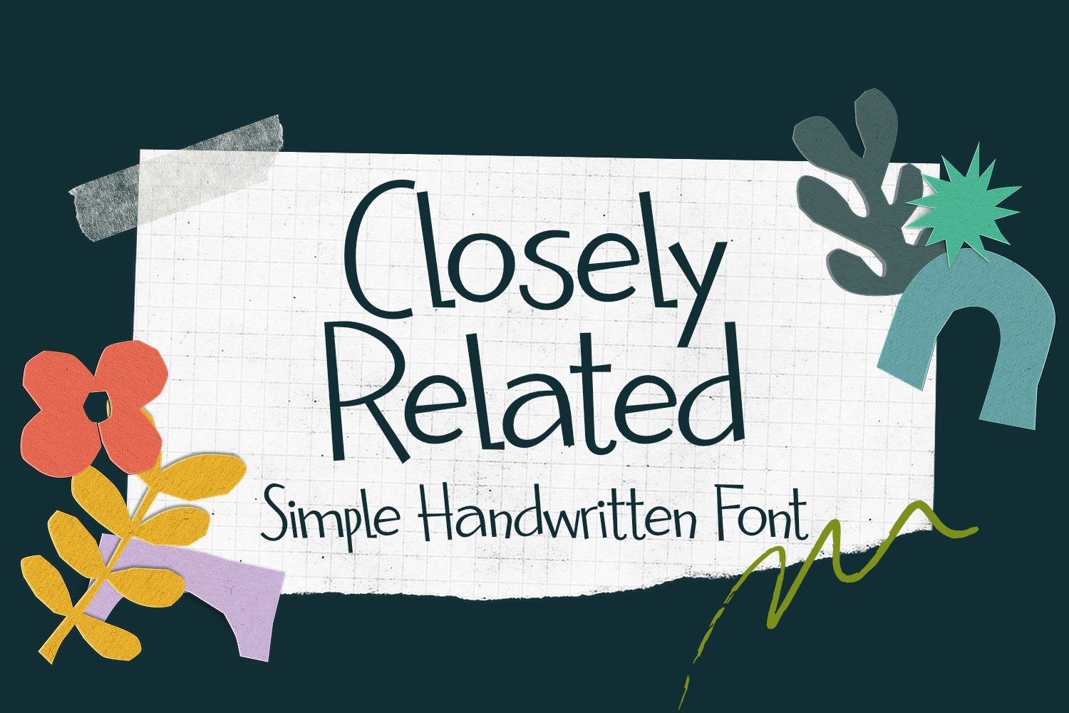 Closely Related Script Font