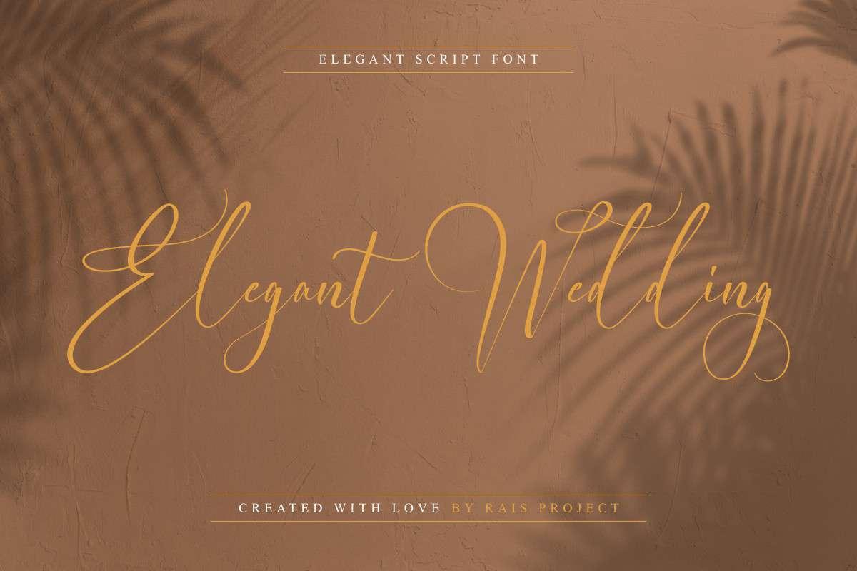 Elegant Wedding Calligraphy Font