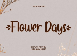 Flower Days Script Font