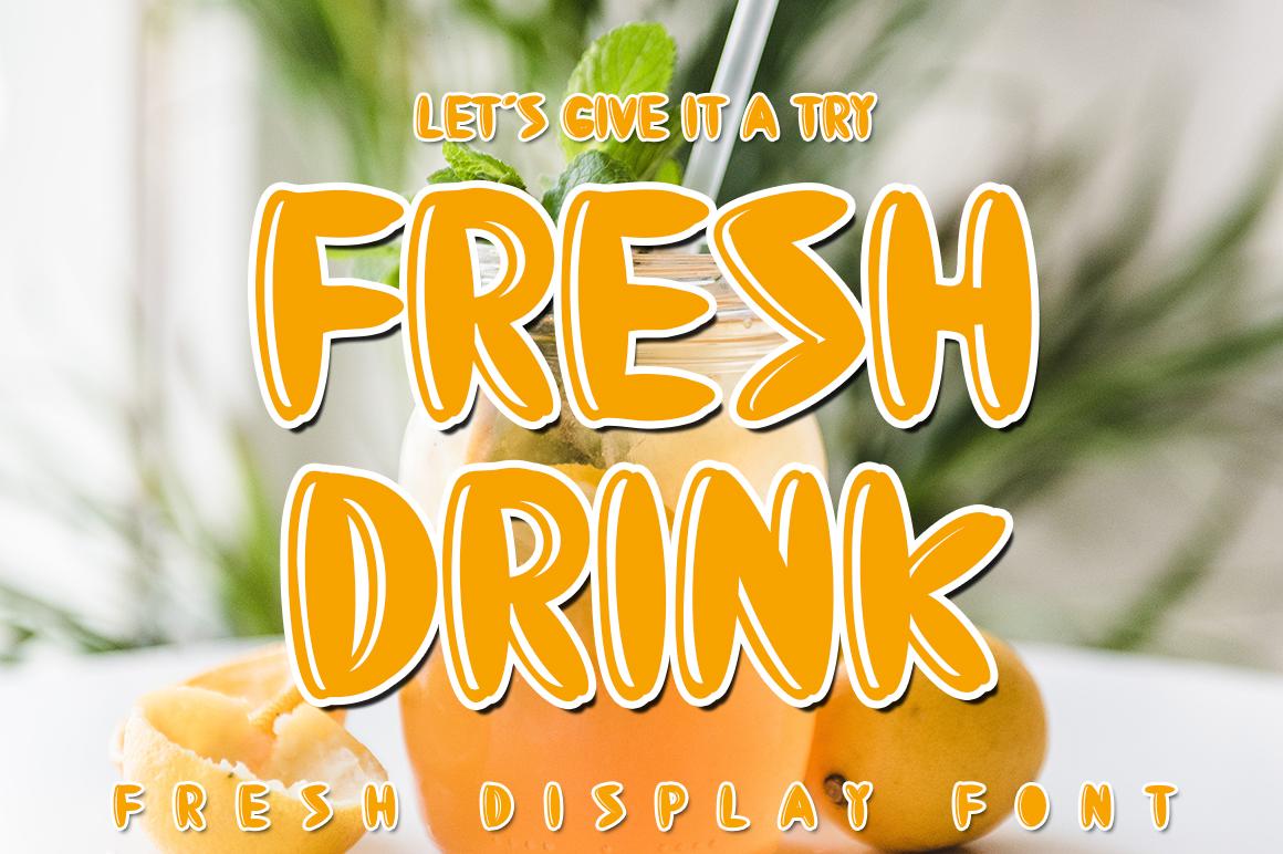 Fresh Drink Display Font