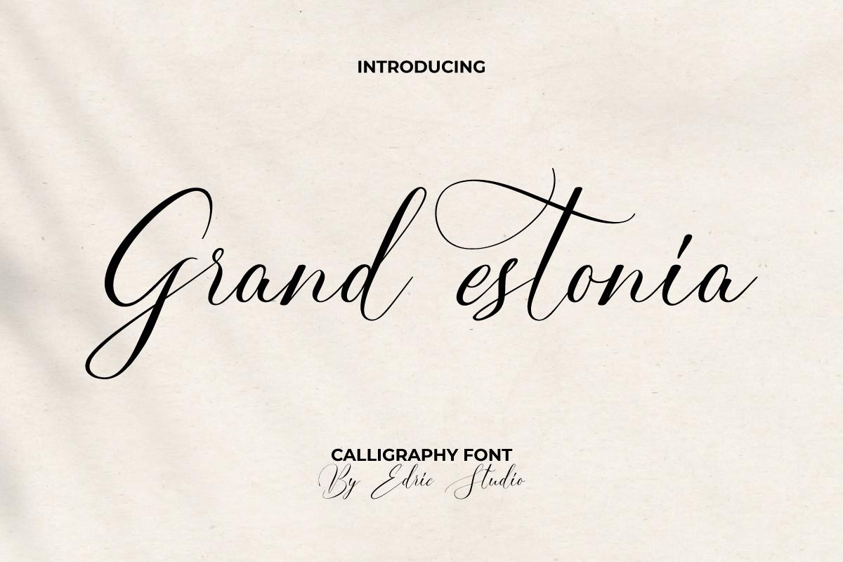 Grand Estonia Calligraphy Font