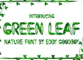 Green Leaf Display Font