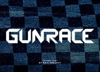 Gunrace Display Font