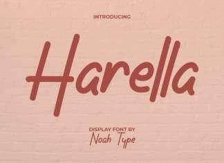 Harella Handwritten Font