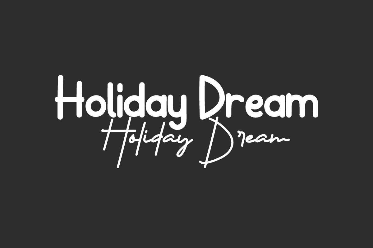 Holiday Dream Font Duo