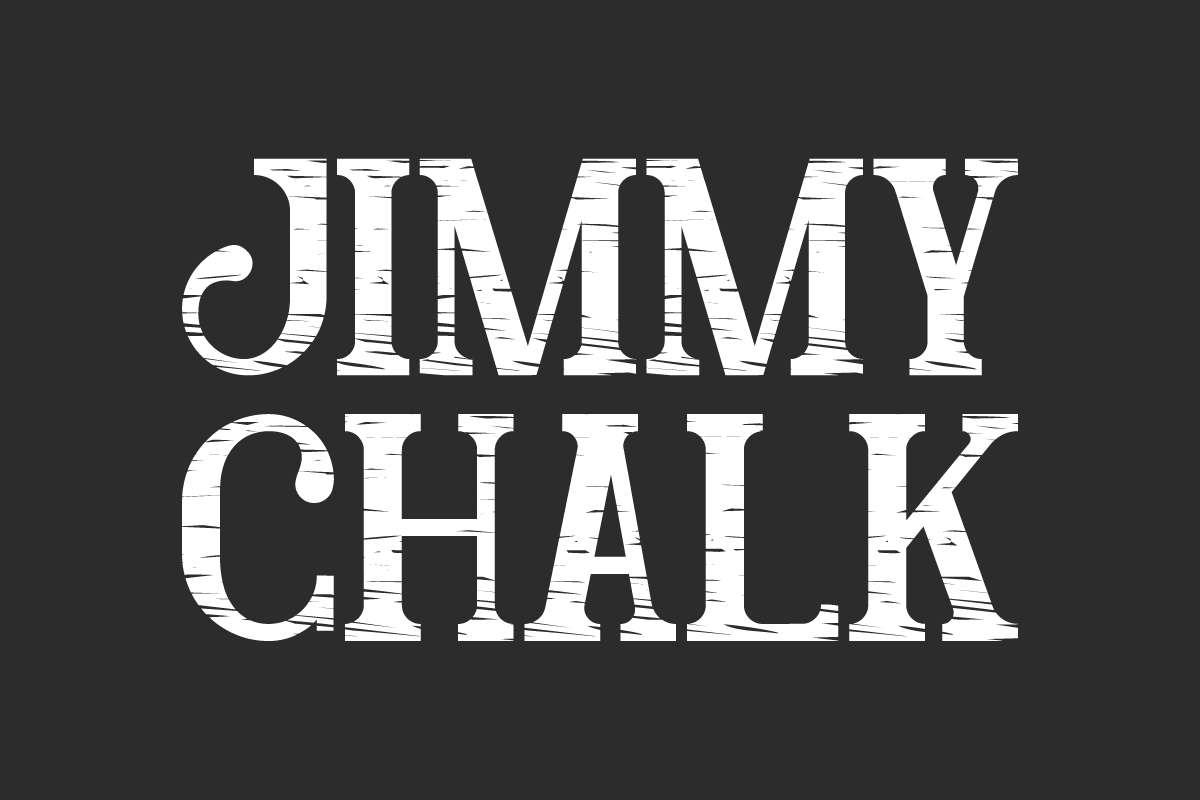 Jimmy Chalk Display Font