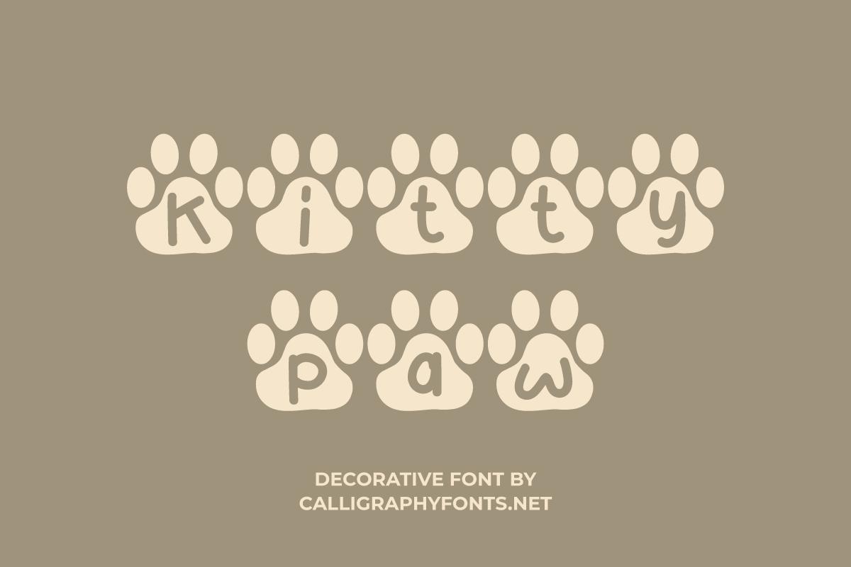 Kitty Paw Display Font