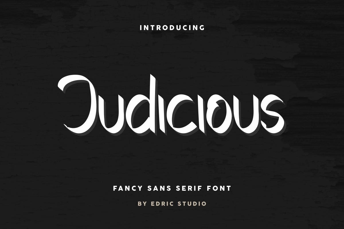 Judicious Display Font