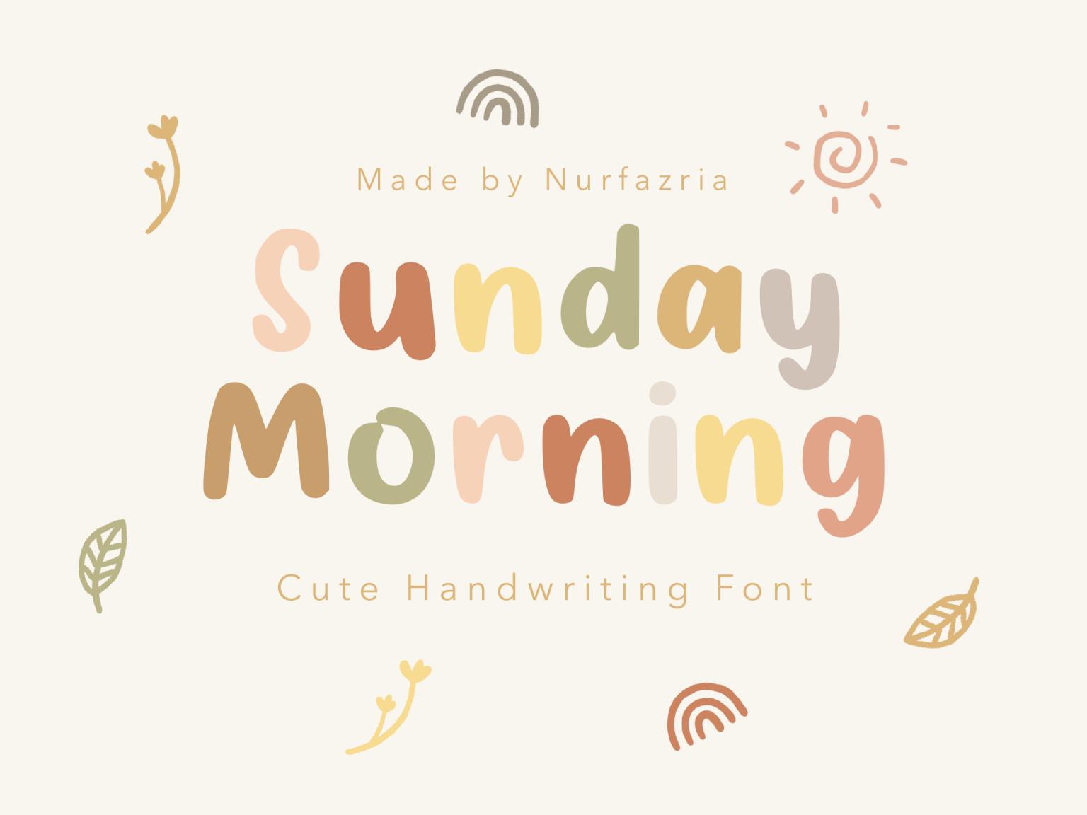 Sunday Morning Display Font