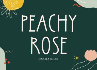 Peachy Rose Display Font