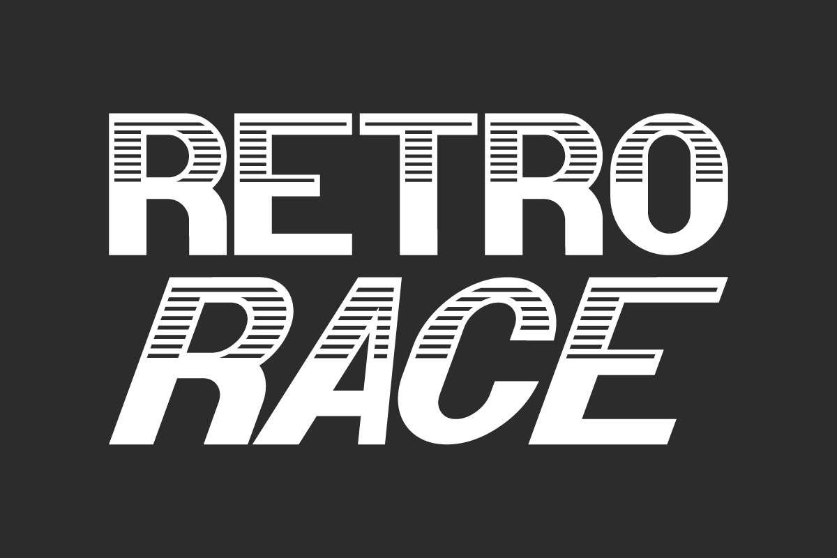 Retro Race Display Font