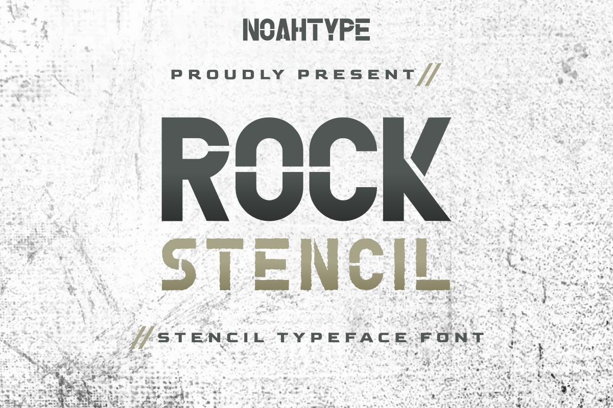 Rock Stencil Display Font