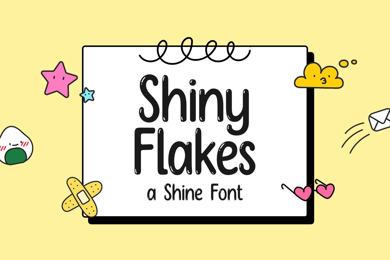 Shiny Flakes Display Font