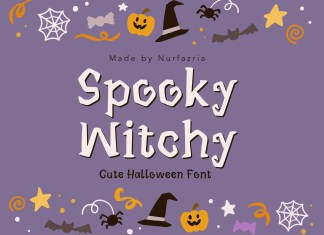Spooky Witchy Display Font