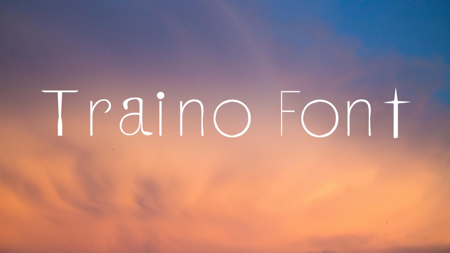Traino Display Font