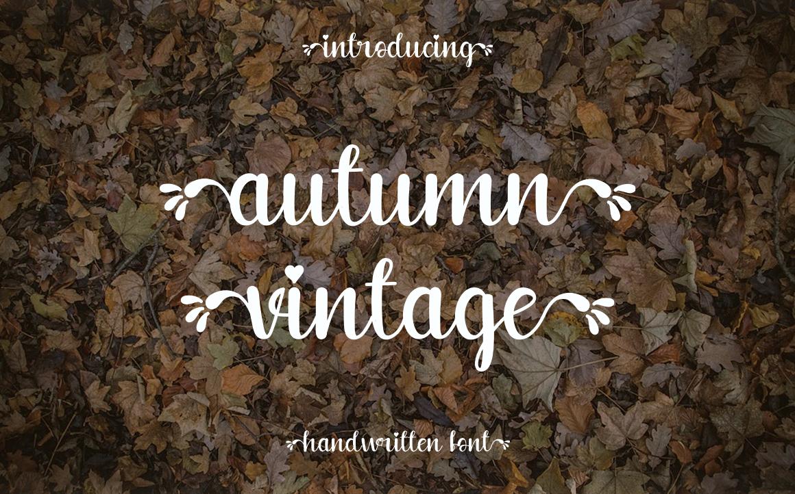 Autumn Vintage Script Font