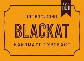 Blackat Display Font