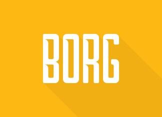 Borg Display Font
