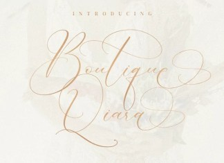 Boutique Qiara Calligraphy Font