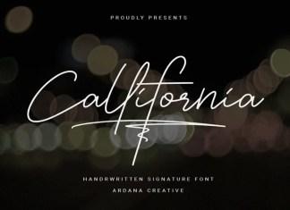 Callifornia Handwritten Font