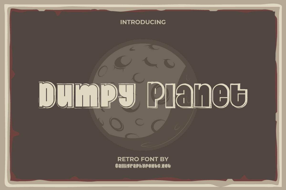 Dumpy Planet Display Font